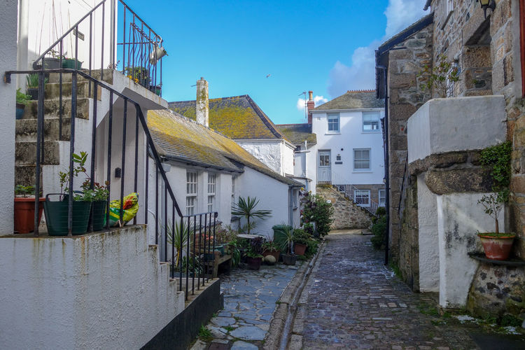 Coast Path Cornwall Uk Architecture Built Structure Building Exterior Building Plant Residential District Nature Sky Direction City House No People Day The Way Forward Water Outdoors Town Footpath Wall Canal Alley St. Ives Cornwall