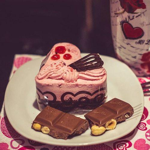 Tak było wczoraj☺🍰Yesterday Valentines Day Happyvalentinesday Valentines Walentynki Luty February Tort Ciasta Ciastka Cake Chocolate Milka Beautiful Beauty Love My Boyfriend Home Homesweethome Deser Dessert Sunday Niedziela polishgirlpolandlikeforlikel4lf4f