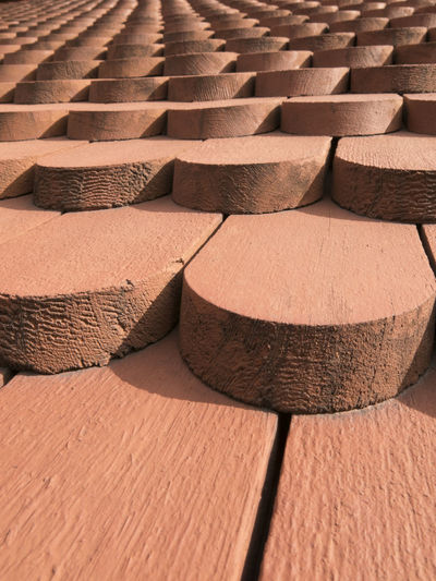 Abundance Angles And Lines Architectural Detail Architecture Close-up Focus On Foreground Minimalism Minimalobsession Pattern Pattern, Texture, Shape And Form Repetition Roof Tiles Wood Wooden Wooden Tiles Red Brown Kiruna Church Beautifully Organized Minimalist Architecture