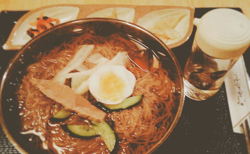 In My Mouf Enjoying A Meal Food Porn Lunch Time! Ikebukuro Tokyo Ikebukuro Enjoy A Meal Korean Food Noodle 冷麺(º∀º)韓太郎 甘めのスープでした。酸味も少々自分で酢を足せました(*´ω`*)お店の方に甘かったかどうか聞かれた…まだ…試行錯誤中???