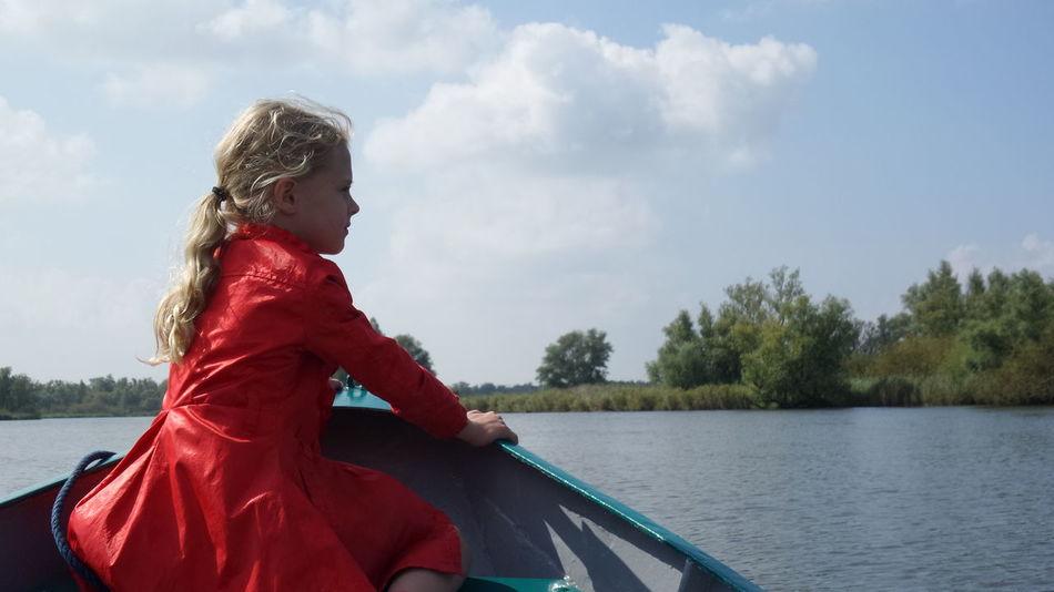 Enjoying Life Boat Trip People Granddaughter
