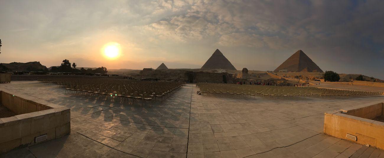 Egypt! Sunset Architecture Built Structure Sky History Building Exterior Travel Destinations