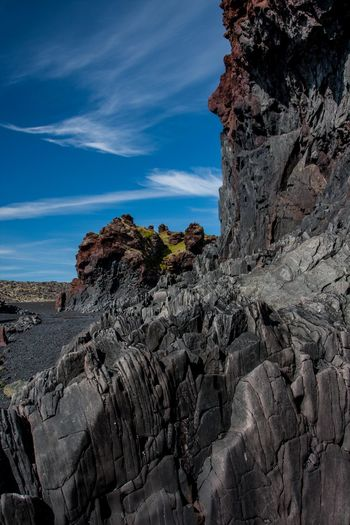 Arid Climate Black Rock City Cliff Day Djúpalónssandur Beach Eroded Exploring Geology Iceland_collection Mountain Nature Physical Geography Rock Rock - Object Rock Formation Rocky Rocky Mountains Rough Stone Textured