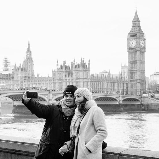 Seeing The Sights The Tourist Bigben FUJIFILM X-T1 Black And White London