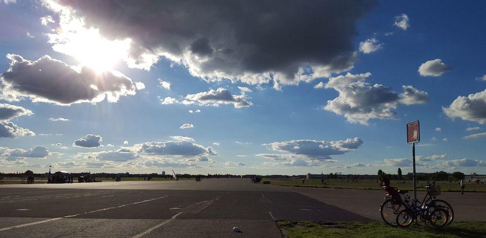 Airfield Berlin Berlin Sun Berlin Tempelhof Bikes Clouds Clouds And Sky Cloudscape Dramatic Skies Dramatic Sky Landing Strip Old Bikes Sun Sun And Clouds Sunny Tempelhofer Feld THF
