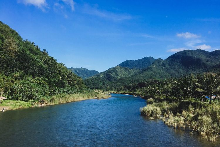 Scenics Mountain Water Tranquil Scene Beauty In Nature Nature Tranquility Tree Outdoors Day Sky No People Mountain Range Blue Landscape Waterfront River Eyeem Philippines Philippines