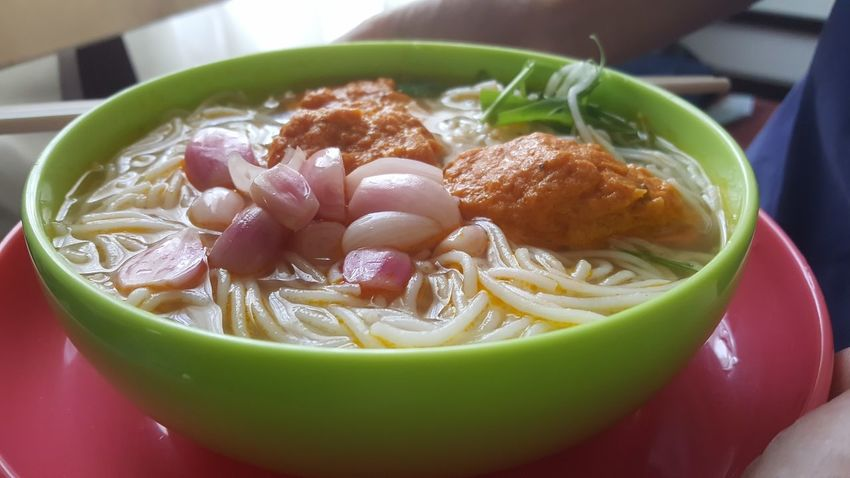 Vietnamese noodles with crab cakes and pickles. Healthy Eating Food Vietnam Đà Nẵng Blurred Motion Dining Noodles