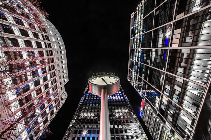 Times up! Architecture Built Structure Building Exterior Night Illuminated Building Low Angle View No People Modern City Tower Clock Travel Destinations Outdoors Time Tall - High Travel Sky Pattern Office Building Exterior Skyscraper Times Up Canary Wharf London Architecture_collection