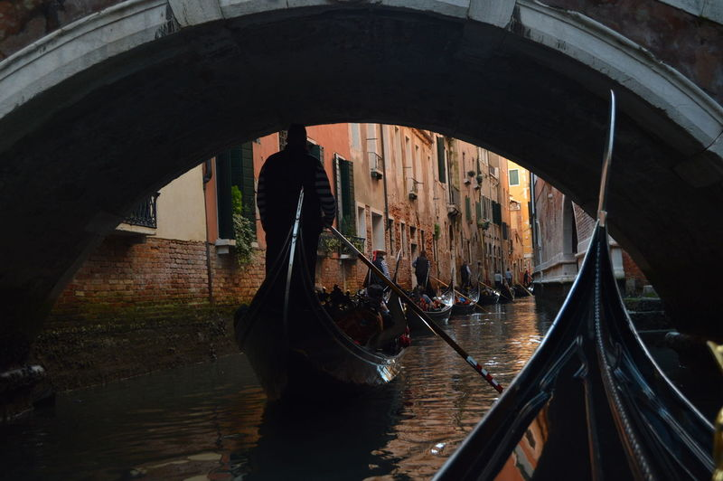Venetian road Adult Architecture Bridge - Man Made Structure Built Structure Canal Day Footbridge Gondola - Traditional Boat Gondolier Indoors  Italy Lifestyles Men Nautical Vessel One Person People Real People Transportation Travel Water Women Wooden Post