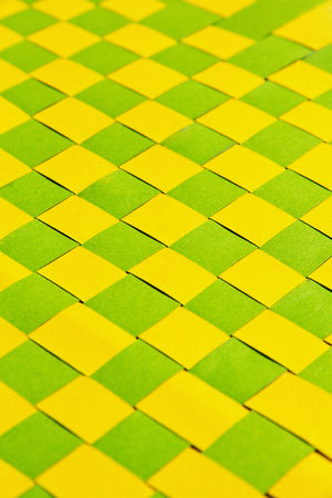 weave paper craft background Paper Craft Backgrounds Close-up Craft Work Day Full Frame Green Color Indoors  Multi Colored No People Pattern Textured  Weave Pattern Yellow