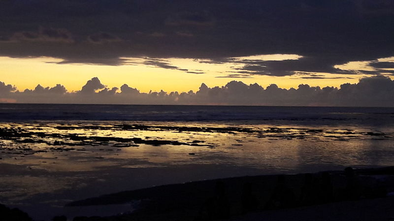 Sunset at Reunoin Island Reunion Island Réunion Island SunSet Yelow Clouds Grey Sky Mascareignes Sea And Sky Tropical Island