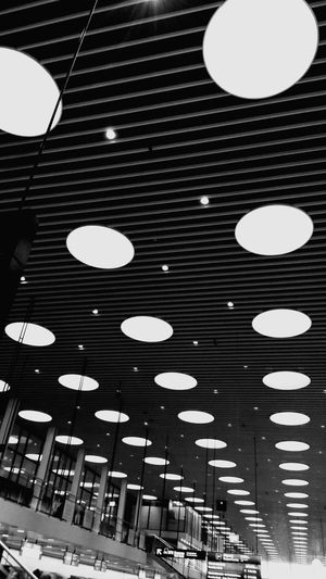 Kopenhavn Patterns Distorted View Welcome To Black Long Goodbye Airport Copenhagen Ceiling Indoors  Architecture Built_Structure Low Angle View No People Lights Let's Go. Together.