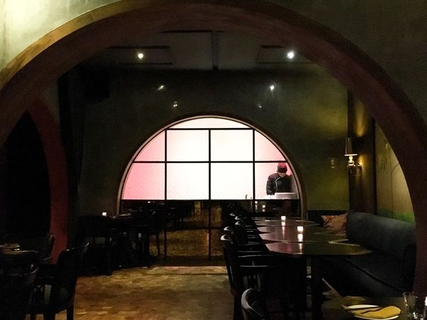 Empty restaurant. Bali Dining Indonesia Dining Eats Tunnel Vision Dark Room Empty Restaurant Trendy Restaurants Trendy Food And Drink Restaurant Indoors  Illuminated Arch Chair Architecture Built Structure Night No People EyeEmNewHere EyeEm Ready   Adventures In The City