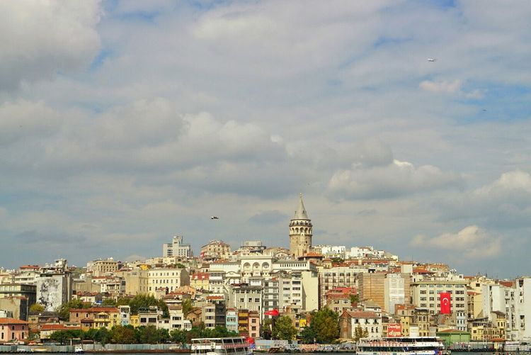 Cityscapes Cities Istanbul Turkey Galatatower Coastline Bosphorus Old Building  Historical Building Vacation My Best Photo 2015 Miles Away