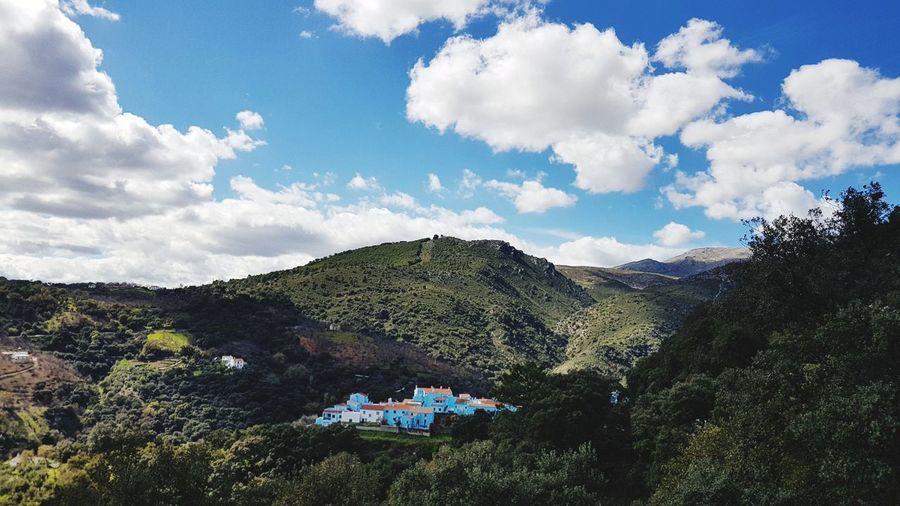 EyeEmNewHere EyeEm Selects Blue Smurfs Village Blue Village Tree Sky Cloud - Sky The Traveler - 2018 EyeEm Awards