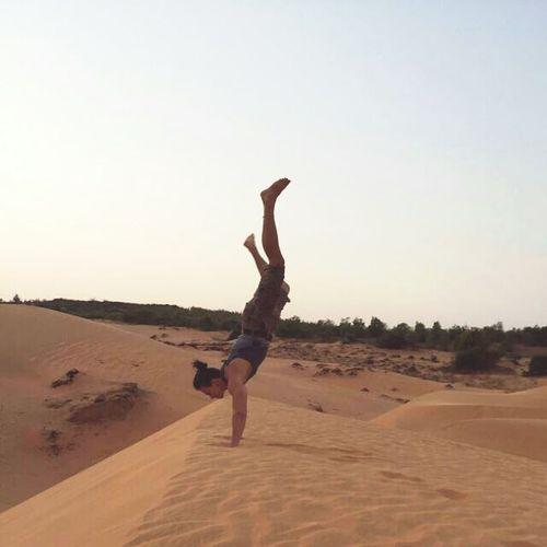 Vietnam Mui Ne Sand Travel Handstand  Sun