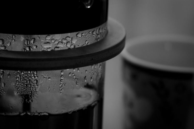Close-up No People Indoors  Drink Day Oldlens Industar61 Monochrome Bnw Drop Table Tea Tea Time