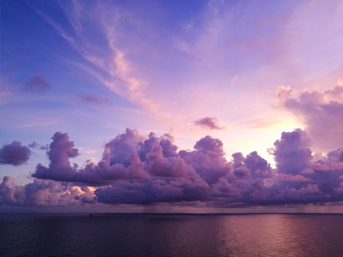 Blue Sky Coulds Coulds And Sky Sunrise Love Clouds And Sky Love Clouds  Colorful Puplesky Red Sky Cloudscape Beauty In Nature Water Tree Sunset Lake Blue Beauty Purple Sky Landscape Cloud - Sky Sky Only Seascape Dramatic Sky Calm Horizon Over Water Ocean Romantic Sky Atmospheric Mood