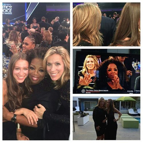Critic's Choice Awards. Hello it's not everyday you get a photo with Oprah CriticsChoiceAwards Blowoutoftheday Blowout HairInspiration hairstyle BeverlyHillsHairColorist BeverlyHills