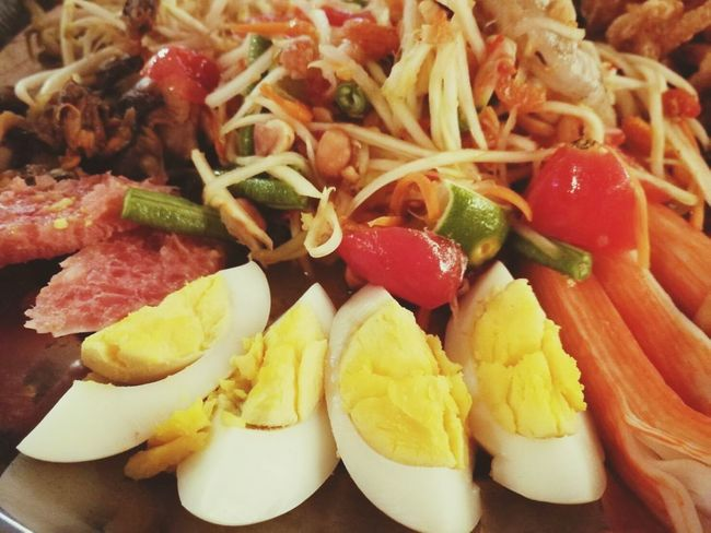 Food And Drink Food Ready-to-eat Healthy Eating Vegetable Indoors  SLICE No People Freshness Close-up Day ตำถาด