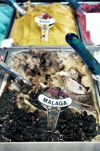 Icecream Malagaicecream Sweets Spain, Andalucia, Malaga