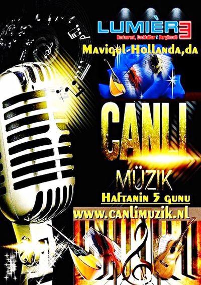 Haftanin 5 Gunu canlimuzik. www.canlimuzik.nl
