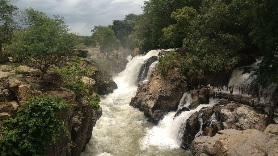 Beauty In Nature Flowing Water Hogenakkal Waterfalls Outdoors Power In Nature Waterfall First Eyeem Photo