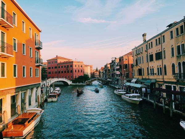 Gondole In Venice Canal Venice Canals Beautiful Colors Water Reflections Cityscapes From Vienna To Milan