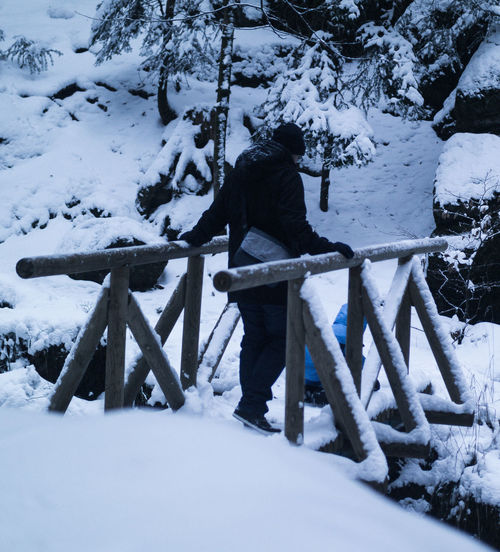 Balance! Adult Adults Only Beauty In Nature Blue Cold Cold Temperature Day Full Length Nature One Man Only One Person Only Men Outdoors People Snow Warm Clothing Weather Winter Family Boy Son Camera Bühlertal