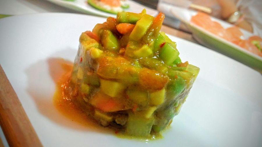 Tomate Tomato Pepino Aguacate Curcuma Jenjibre Comida Japonesa Cena Japonesa Comida Food