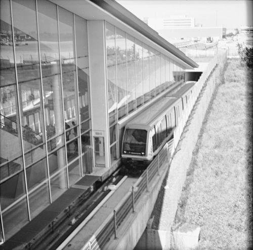 Black & White Paris Aeroport Charles De Gaulle Traveling Pentacon Six TL - Kodak T-Max 100