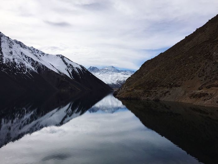 Cordillera Infinita I Sky Reflection Water Cloud - Sky Beauty In Nature Tranquility Tranquil Scene Scenics - Nature Mountain Nature No People Day Non-urban Scene Symmetry Lake Snowcapped Mountain
