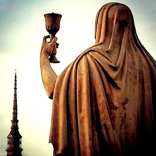 Torino ❤ Torinoesoterica Representing City Statue Sculpture Religion Monument Human Representation Spirituality Sky Architecture