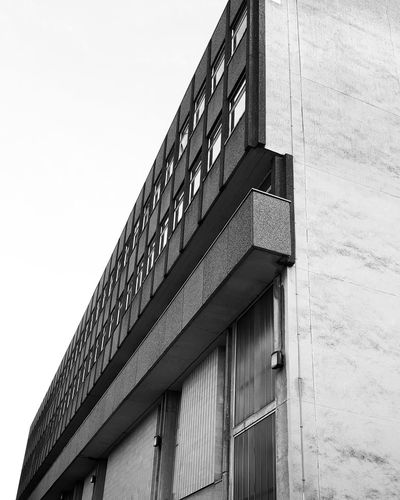 """Angular""⚫⚪🏢 Architecture Built Structure Building Exterior Low Angle View Day Outdoors No People Modern Sky Photographing Abstract Photography Backgrounds Blackandwhiteworld Photography Themes EyeEm Selects The Week On EyeEm"