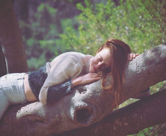 Lost In The Landscape Eyes Closed  Real People Lying Down Relaxation Outdoors Beautiful Woman Young Women Nature People Day