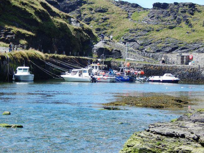 Cornish Village Boscastleharbour Boscastle Fisherman Boat Fishermen's Life Water Nautical Vessel Harbour Cornwall Uk Cornwall Ladyphotographerofthemonth EyEmNewHere Scenics Day Outdoors This Week On Eyeem