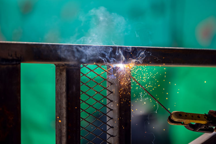 Welding and brilliant sparks are two things that come to mind when i think of welding. .