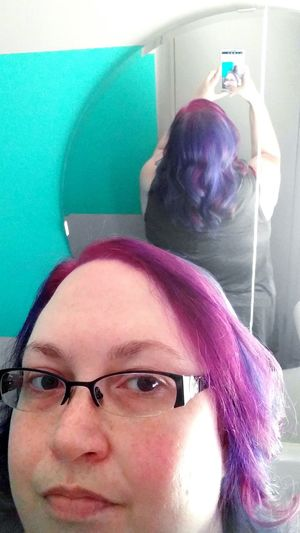 Let Your Hair Down Rainbow Mermaidhair Justcolored Purple Blue Green Hair Hairstyle Haircolor Hair Trend