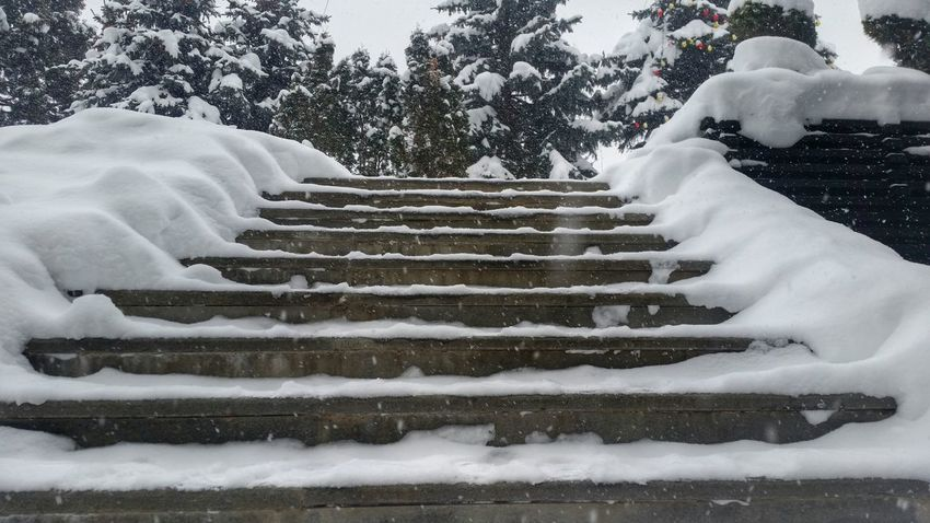 Winter Cold Snow Outdoors Landscape Streetphotography Winter Relaxing Stairs City Citylife