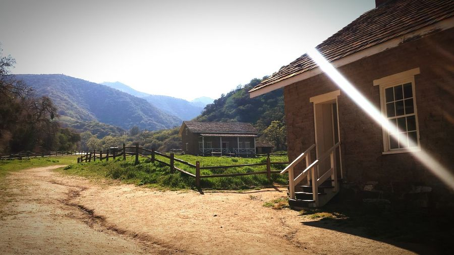 Fort Tejon Blue Sky Spring Old Building  Fence Greenery Hills Hills And Valleys