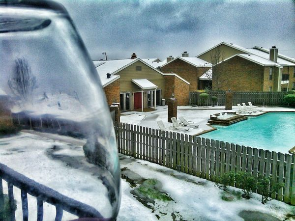 A toast to winter.. It's Cold Outside Balcony View On The Patio The Places I've Been Today Snow Covered Check This Out Outside_my_window Southernwinter Taking Photos Worshipgod