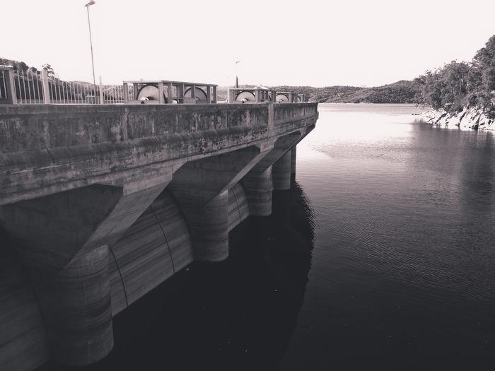 Dique la Viña Architecture Bridge Bridge - Man Made Structure Built Structure Connection Dam Lake Landscape Nature Nautical Vessel No People Outdoors Water Waterfront