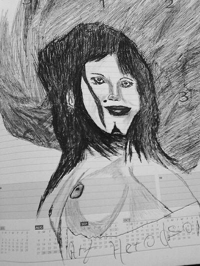 Beauty Drawing Black & White art