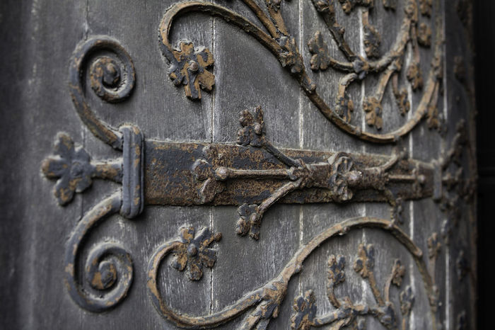 'The Door' Beckoning Beyond Close-up Come On In Door Doorway Eerie Entering Entry Into The Unknown No People Old World Open Door Ornate Ornate Door Outside Pattern Rusting Sanctuary  Step Through The Way Forward The Way In Through Welcome Welcoming