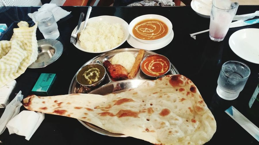 Table Food And Drink Food Directly Above Plate High Angle View Ready-to-eat Indoors  Freshness Drink No People Close-up Day カレー