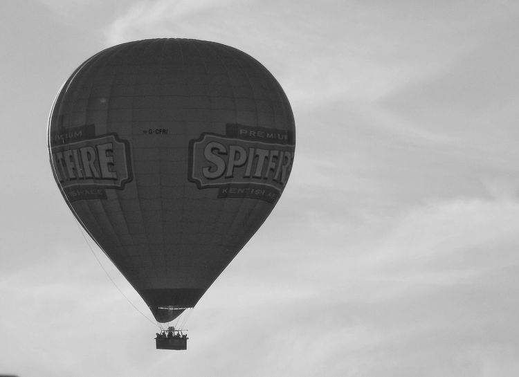 Hot Air Balloon Sky Day Outdoors Heart Shape Monochrome Black And White Evening Ballooning Dirigible Hot Air Flight In The Sky Overhead Basket Travel Alternative Travel Weekend Pursuit