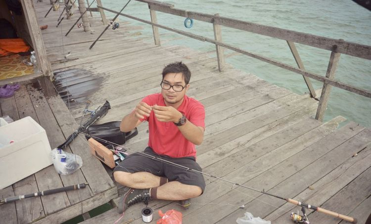 fishing on kelong Kelong Marine Sea Fishing