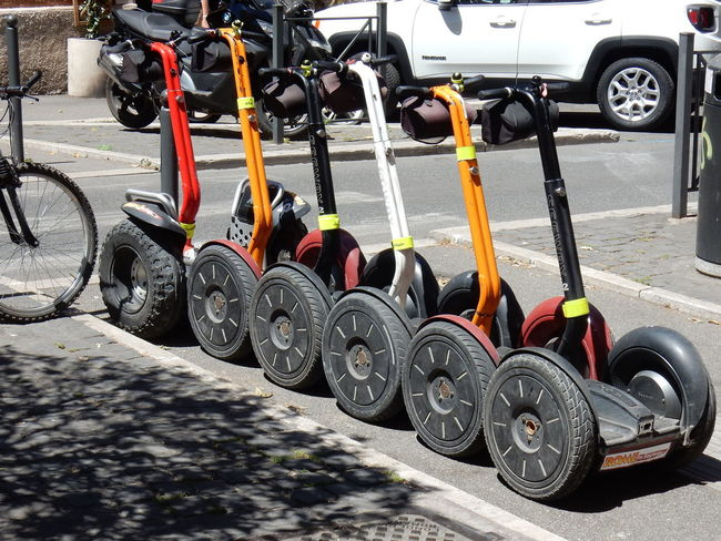 Noleggio segway Roma Black Color Car City Concrete Day In A Row Land Vehicle Machinery Mode Of Transportation Motor Vehicle No People Noleggio Outdoors Parking Road Segway Stationary Street Sunlight Tire Transportation Truck Turistico Wheel