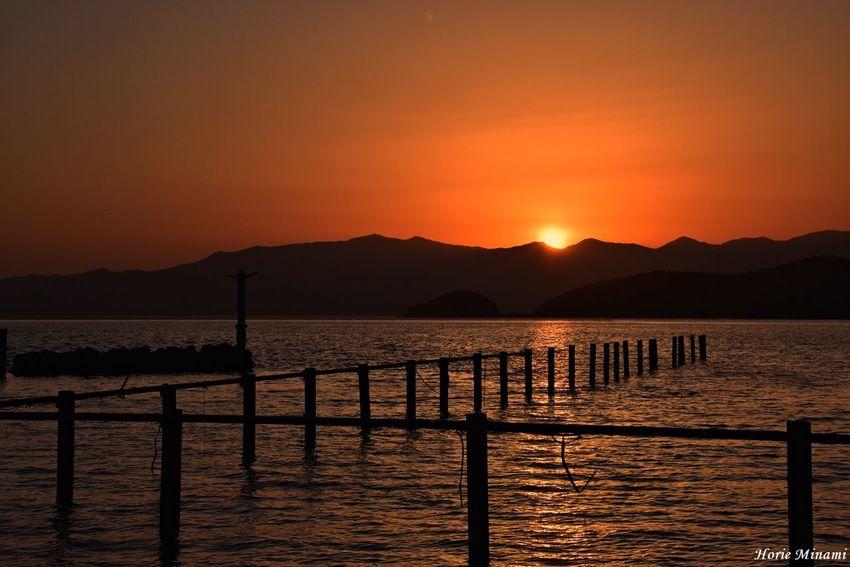 Lake 近江八幡市 琵琶湖 EyeEm Selects EyeEm Gallery EyeEmNewHere EyeEm Best Shots Water Sky Sunset Scenics - Nature Beauty In Nature Tranquil Scene Orange Color