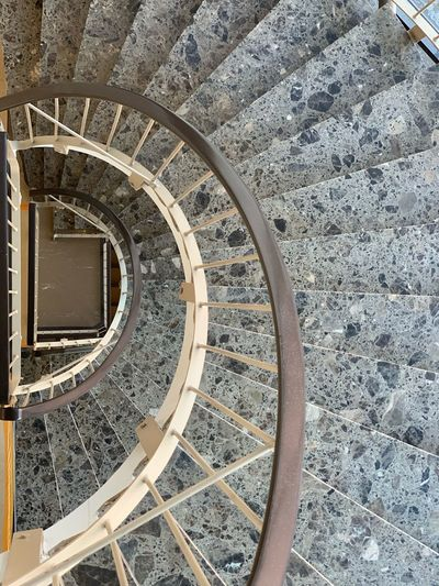 Stairs Architecture Built Structure High Angle View Pattern No People Day Metal Steps And Staircases Staircase Spiral Spiral Staircase